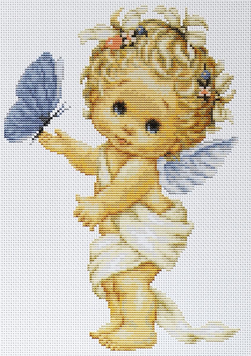 Набор для вышивания крестом Luca-S Бабочка и ангел, 16,5 х 23,5 смB368Набор для вышивания крестом Luca-S Бабочка и ангел поможет создать красивую вышитую картину. Рисунок-вышивка, выполненный на канве, выглядит стильно и модно. Вышивание отвлечет вас от повседневных забот и превратится в увлекательное занятие! Работа, сделанная своими руками, не только украсит интерьер дома, придав ему уют и оригинальность, но и будет отличным подарком для друзей и близких! Набор содержит все необходимые материалы для вышивки на канве в технике счетный крест. В набор входит: - канва Aida 16 Zweigart (белого цвета), - нитки мулине Anchor - 100% мерсеризованный хлопок (28 цветов), - черно-белая символьная схема, - инструкция на русском языке, - игла.