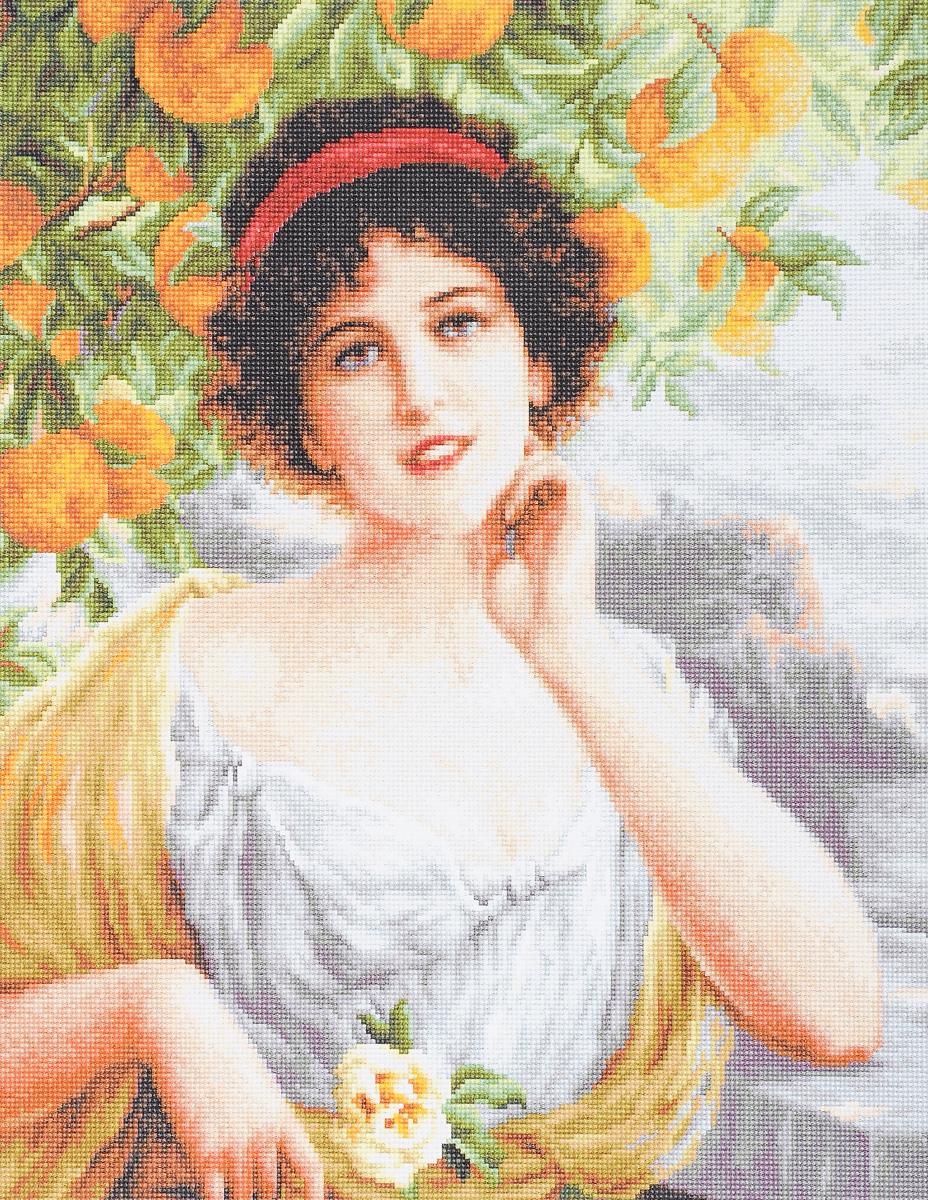 Набор для вышивания крестом Luca-S Красавица под апельсиновым деревом, 20 х 24 смG546Набор для вышивания крестом Luca-S Красавица под апельсиновым деревом поможет создать красивую вышитую картину. Рисунок-вышивка, выполненный на канве, выглядит стильно и модно. Вышивание отвлечет вас от повседневных забот и превратится в увлекательное занятие! Работа, сделанная своими руками, не только украсит интерьер дома, придав ему уют и оригинальность, но и будет отличным подарком для друзей и близких! Набор содержит все необходимые материалы для вышивки на канве в технике счетный крест. Канва разграничена на клетки по 10 пунктов, как и на схеме, что существенно облегчает работу вышивальщицы. В набор входит: - канва гобеленовая Zweigart 100 клеток в 10 см (бежевого цвета), - нитки мулине Anchor - 100% мерсеризованный хлопок (48 цветов), - черно-белая символьная схема, - инструкция на русском языке, - игла.