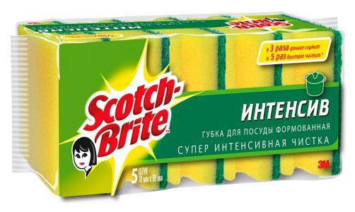 Губка для посуды Scotch-Brite формованная, 5 штXN-0045-0117-9Набор из 5 губок Scotch-Brite предназначен для мытья посуды. Лучшая губка для вашей кухни! Идеально удаляет жир, грязь и пригоревшую пищу. Отлично подходит как для посуды, так и для любой другой поверхности. Для удобства применения с одной стороны губки нанесен абразивный слой. Губки сохраняют чистоту и свежесть даже после многократного применения, а их эргономичная форма удобна для руки. Характеристики: Материал: сложные полимеры. Размер: 9 см х 7 см х 4 см. Количество: 5 шт. Изготовитель: Россия.