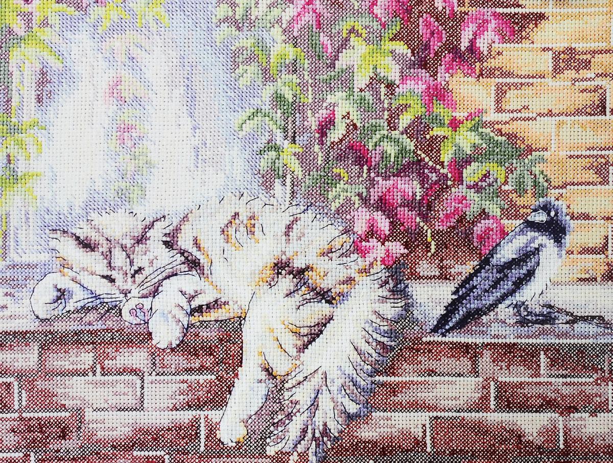 Набор для вышивания крестом Марья Искусница Как утеплить гнездо, 30 х 23 см03.016.08Набор для вышивания крестом Марья Искусница Как утеплить гнездо поможет создать красивую вышитую картину. Рисунок-вышивка, выполненный на канве по картине О. Воробьевой, выглядит стильно и модно. Вышивание отвлечет вас от повседневных забот и превратится в увлекательное занятие! Работа, сделанная своими руками, не только украсит интерьер дома, придав ему уют и оригинальность, но и будет отличным подарком для друзей и близких! Набор содержит все необходимые материалы для вышивки на канве в технике счетный крест. В набор входят: - канва Aida 14 Zweigart (молочного цвета), - нитки мулине Finca - хлопок (30 цветов), - черно-белая символьная схема, - инструкция на русском языке, - игла Hemline.