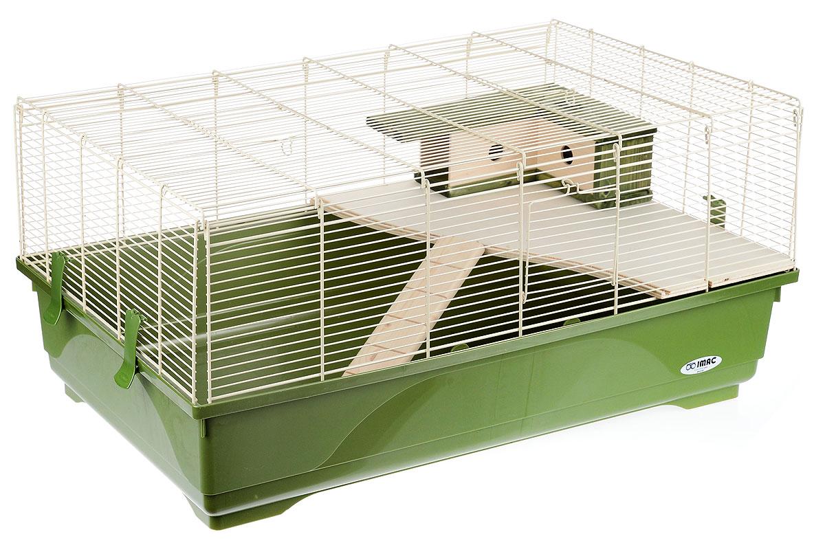 Клетка для грызунов Imac Stitch, 80 х 48,5 х 38 см8021799405328Просторная клетка Imac Stitch, выполненная из пластика, металла и дерева, подходит для мелких грызунов, например, крыс или хомяков. Изделие оборудовано лесенкой, полочкой и домиком. Клетка имеет яркий поддон, удобна в использовании и легко чистится. Такая клетка станет уединенным личным пространством и уютным домиком для маленького грызуна.
