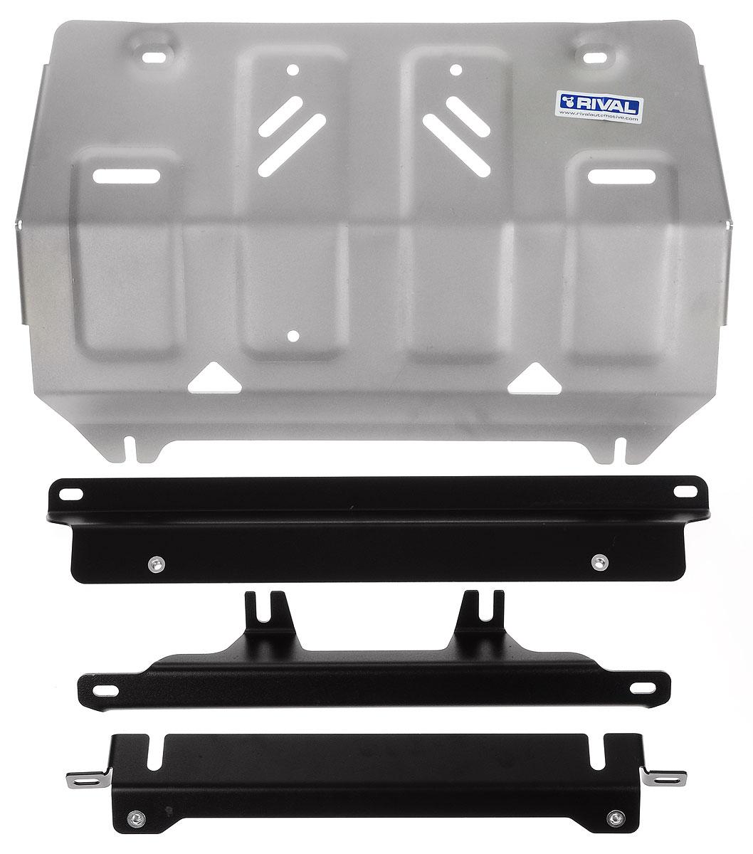 Защита картера Rival, для Mitsubishi L200. 333.4040.1333.4040.1Защита радиатора для Mitsubishi L200 4WD , V - 2,4DID; 2,4DID H.P. 2015-, крепеж в комплекте, алюминий 4 мм, Rival. Надежно защищают днище вашего автомобиля от повреждений, например при наезде на бордюры, а также выполняют эстетическую функцию при установке на высокие автомобили. - Толщина алюминиевых защит в 2 раза толще стальных, а вес при этом меньше до 30%. - Отлично отводит тепло от двигателя своей поверхностью, что спасает двигатель от перегрева в летний период или при высоких нагрузках. - В отличие от стальных, алюминиевые защиты не поддаются коррозии, что гарантирует срок службы защит более 5 лет. - Покрываются порошковой краской, что надолго сохраняет первоначальный вид новой защиты и защищает от гальванической коррозии. - Глубокий штамп дополнительно усиливает конструкцию защиты. - Подштамповка в местах крепления защищает крепеж от срезания. - Технологические отверстия там, где они необходимы для смены...