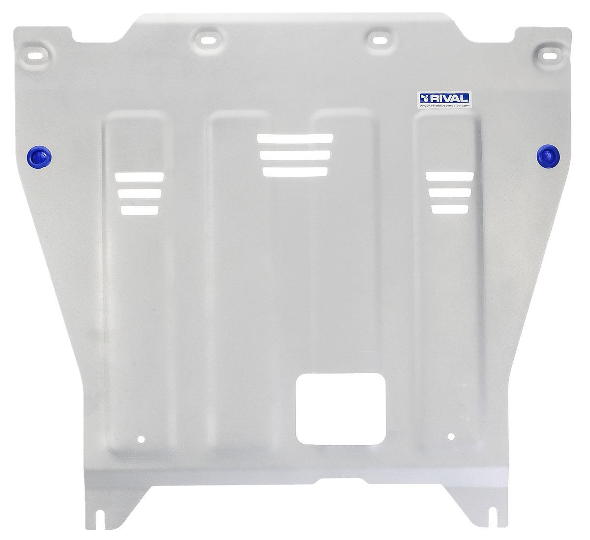 Защита картера и КПП Rival, для Kia Optima. 333.2837.1333.2837.1Защита картера и КПП для Kia Optima , V - 2,0(150hp); 2,4GDI(188hp) ; 2,0T-GDI(245hp) 2016-, крепеж в комплекте, алюминий 4 мм, Rival. Надежно защищают днище вашего автомобиля от повреждений, например при наезде на бордюры, а также выполняют эстетическую функцию при установке на высокие автомобили. - Толщина алюминиевых защит в 2 раза толще стальных, а вес при этом меньше до 30%. - Отлично отводит тепло от двигателя своей поверхностью, что спасает двигатель от перегрева в летний период или при высоких нагрузках. - В отличие от стальных, алюминиевые защиты не поддаются коррозии, что гарантирует срок службы защит более 5 лет. - Покрываются порошковой краской, что надолго сохраняет первоначальный вид новой защиты и защищает от гальванической коррозии. - Глубокий штамп дополнительно усиливает конструкцию защиты. - Подштамповка в местах крепления защищает крепеж от срезания. - Технологические отверстия там, где они...