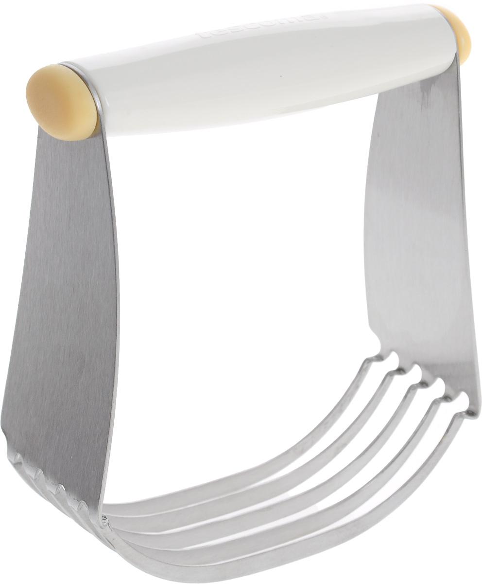 Мешалка для теста Tescoma Delicia630068Мешалка для теста Tescoma Delicia отлично подходит для быстрого и легкого замешивания и смешивания всех обычных видов теста. Рабочая часть из 5 стальных лезвий позволяет быстро измельчать ингредиенты и делать тесто однородным. Удобная ручка выполнена из пластика. Можно мыть в посудомоечной машине.
