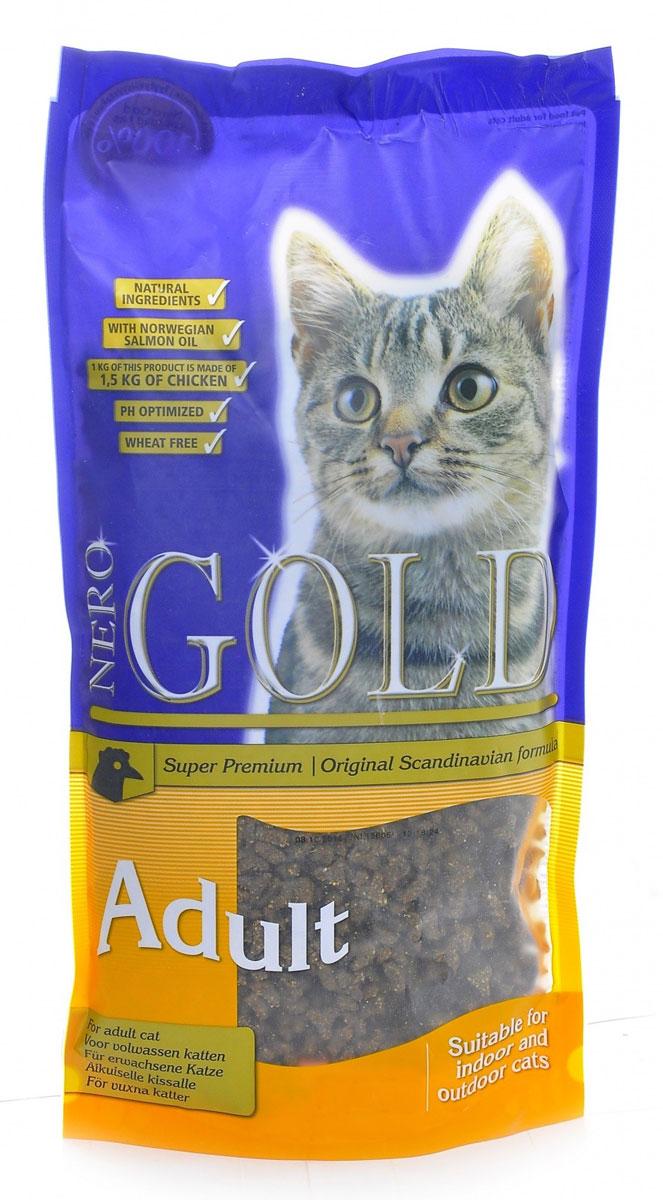 NERO GOLD super premium Для Кошек с Курицей (Cat Adult Chicken 32/18), 2,5 кг.20023Состав: дегидрированное мясо курицы, рис, маис, куриный жир, дегидрированная рыба, ячмень, гидролизованная куриная печень, кукурузный глютен, клетчатка (мин. 5 %), мякоть свеклы, минералы и витамины, дрожжи, яичный порошок, рыбий жир, инулин (мин. 0,5 % FOS), лецитин (мин. 0,5 %), экстракт Юкки шидигера, холина хлорид, гидролизованные хрящи (источник хондроитина), гидролизат ракообразных (источник глюкозамина), карбонат кальция, таурин, L-карнитин.