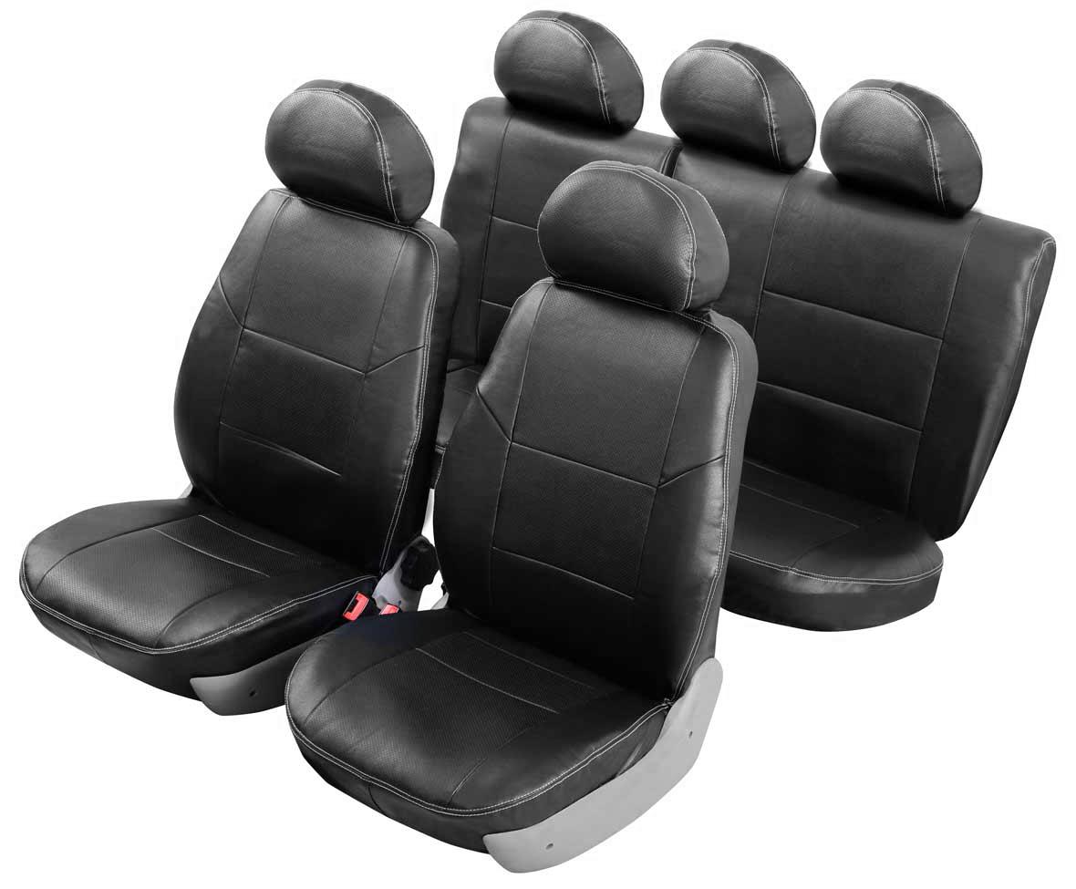 Чехол на автомобильное кресло Senator Atlant KIA SPORTAGE II 2008-2010 рестайлинг, цвет: черныйS1010231Разработаны в РФ индивидуально для каждой модели автомобиля. Чехлы Senator Atlant серийно выпускаются на собственном швейном производстве в России. Чехлы идеально повторяют штатную форму сидений и выглядят как оригинальный кожаный салон. Для простоты установки используется липучка Velcro, учтены все технологические отверстия. Чехлы сохраняют полную функциональность салона – трасформация сидений, возможность установки детских кресел ISOFIX, не препятствуют работе подушек безопасности AIRBAG и подогрева сидений. Дизайн чехлов Senator Atlant приближен к оригинальной обивке салона. Чехлы имеют вставки из перфорированной кожи по центру переднего сиденья и на подголовниках, которые создают дополнительный комфорт во время поездки. Декоративная контрастная прострочка по периметру авточехлов придает стильный и изысканный внешний вид интерьеру автомобиля. Чехлы Senator Atlant изготовлены из экокожи, триплированной огнеупорным поролоном толщиной 5 мм, за счет чего чехол приобретает...