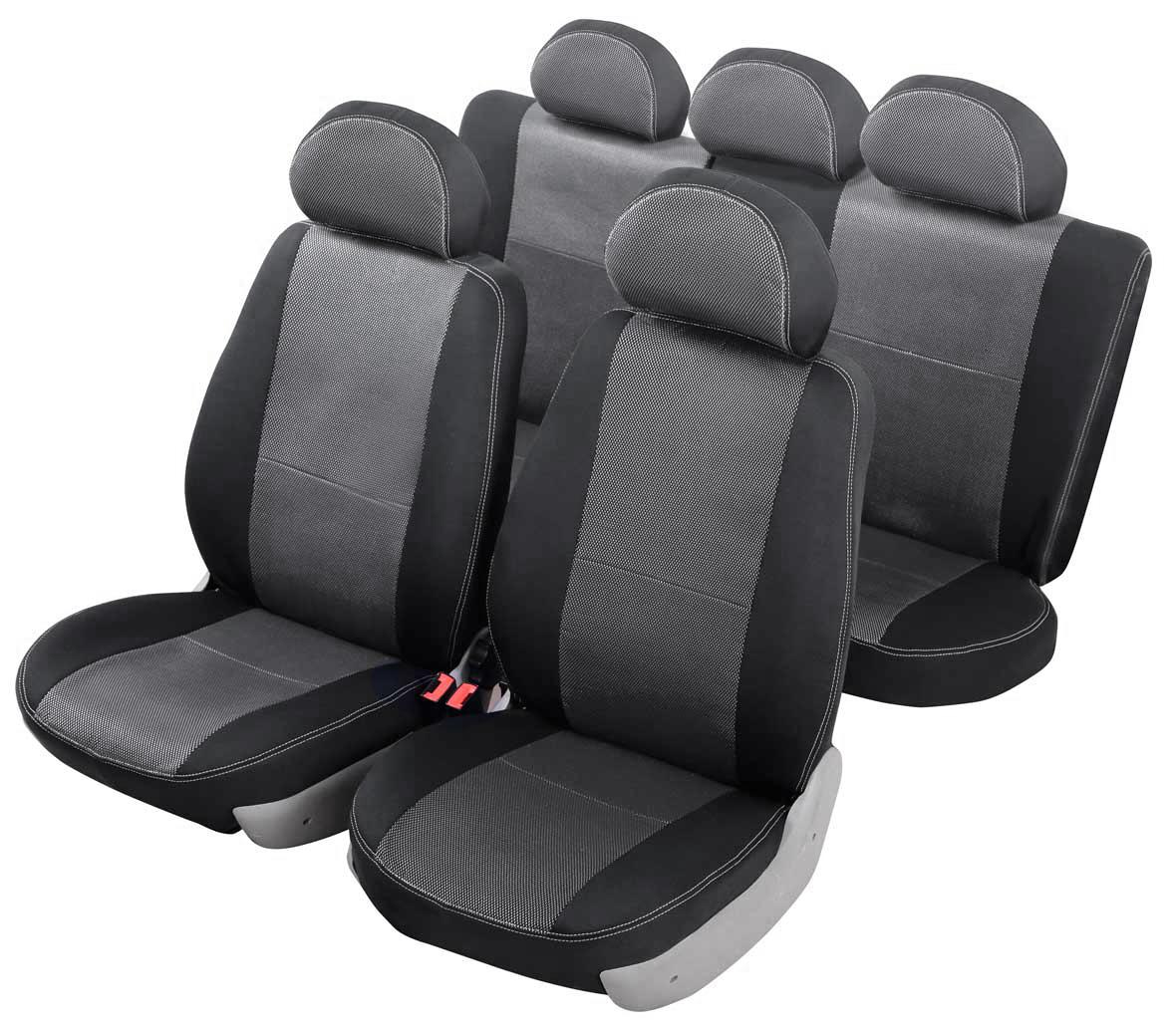 """Чехол на автомобильное кресло Senator """"Dakkar"""" VW POLO 2009-н.в. сед., разд.зад.ряд, цвет: черный"""