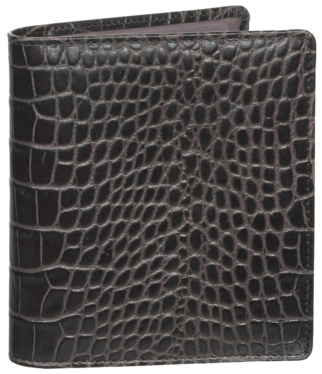 Визитница женская Fabula Croco Nile, цвет: темно-коричневый. V.57/1.KRV.57/1.KR млечный лесЖенская визитница Fabula Croco Nile выполнена из высококачественной натуральной кожи с фактурным тиснением под крокодила. Внутри имеется два кармана и блок из двадцати двойных отделений для визиток из прозрачного пластика. Изделие упаковано в фирменную коробку. Такая визитница станет отличным подарком для человека, ценящего качественные и практичные вещи.