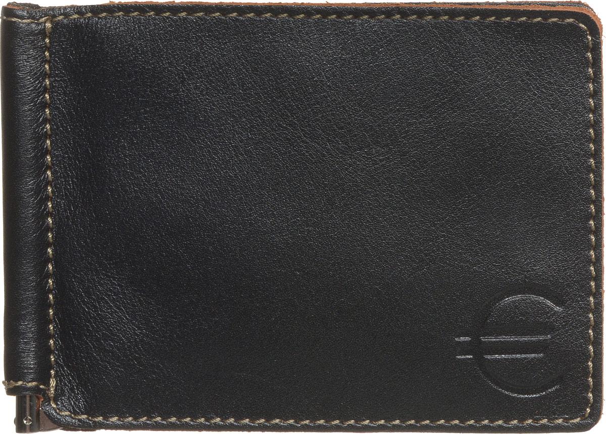 Зажим для купюр мужской Fabula Kansas, цвет: черный. Z.6.TXFZ.6.TXF.черныйЗажим для купюр Fabula Kansas выполнен из высококачественной натуральной кожи, оформлен контрастной отделочной строчкой и тиснением. Изделие раскладывается пополам, внутри расположены: зажим для купюр, шесть прорезных карманов для кредитных карт. Зажим для купюр упакован в коробку из плотного картона с логотипом фирмы. Этот практичный зажим для купюр непременно подойдет к вашему образу, а также порадует вас своей простотой, стилем и функциональностью.