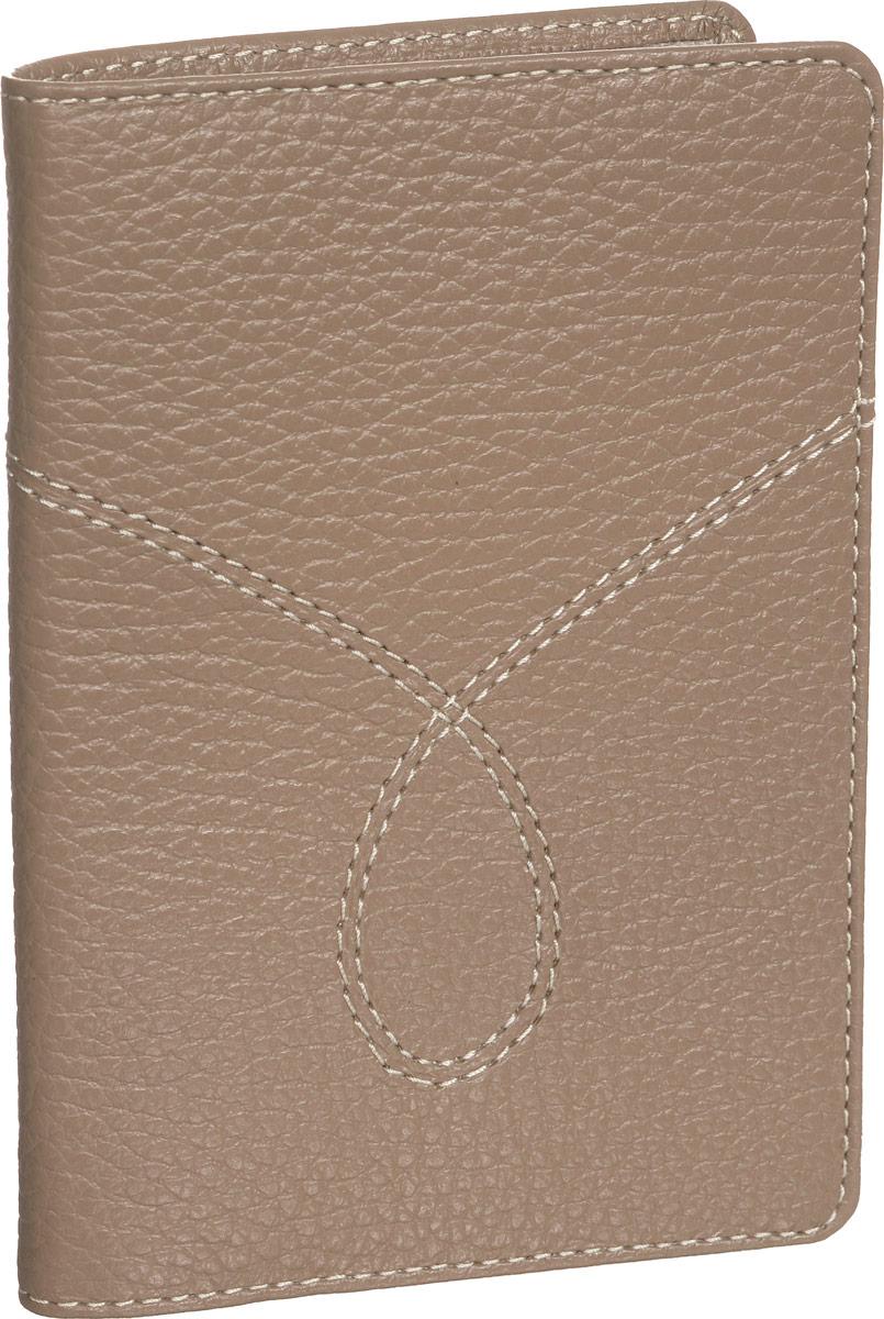 Обложка для паспорта женская Fabula O.65.PMF.темно-бежевыйO.65.PMF.темно-бежевыйОбложка для паспорта из коллекции Torrone выполнена из натуральной кожи. На внутреннем развороте 2 кармана из прозрачного пластика, шелковистая подкладка. 95х137