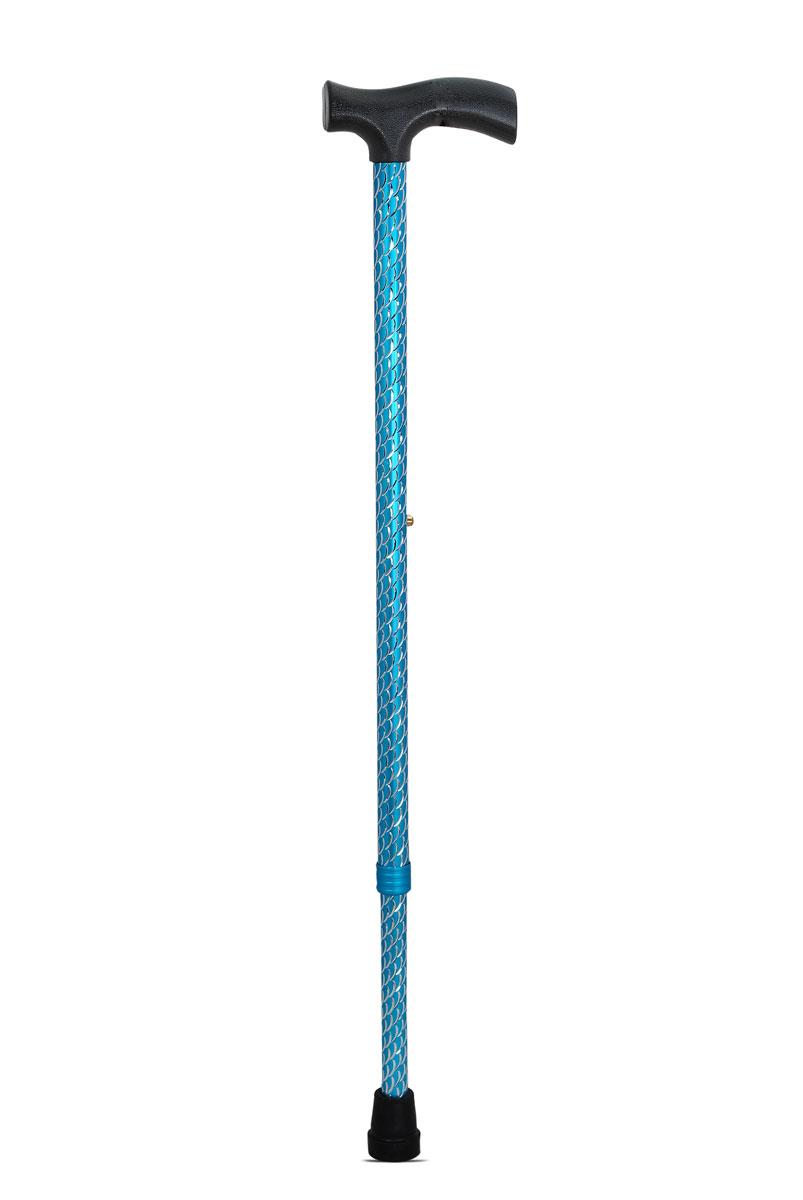Amrus Трость телескопическая металлическая с ортопедической рукояткой (голубой цвет) AMCT25 BL