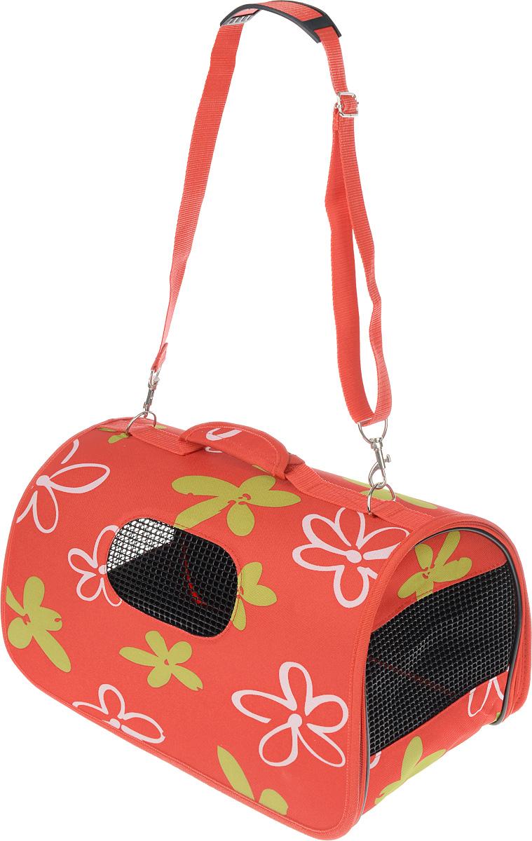 Сумка-переноска для животных Zolux, цвет: красный, зеленый, белый, 43,5 х 25 х 25 см3336024234204 / 423420RGEСумка-переноска Zolux подходит для собак мелких пород и кошек. Изделие выполнено из нейлона и полиэстера, а также имеет сборную-разборную конструкцию. Закрывается при помощи застежки-молнии по кругу. Сумка внутри оснащена съемной подстилкой и поводком для безопасности питомца. Снабжена специальными сетчатыми резиновыми вставками, чтобы ваш любимец мог дышать. Для удобной переноски имеются ручка и регулируемая по длине съемная лямка со специальной накладкой. На дне закреплены четыре пластиковые ножки. При необходимости сумка складывается и фиксируется липучкой. Сумка-переноска Zolux обязательно понравится вашим домашним любимцам и сделает любую поездку наиболее комфортной. Размер сумки (в сложенном виде): 43,5 х 25 х 14 см. Размер сумки (в разложенном виде): 43,5 х 25 х 25 см.