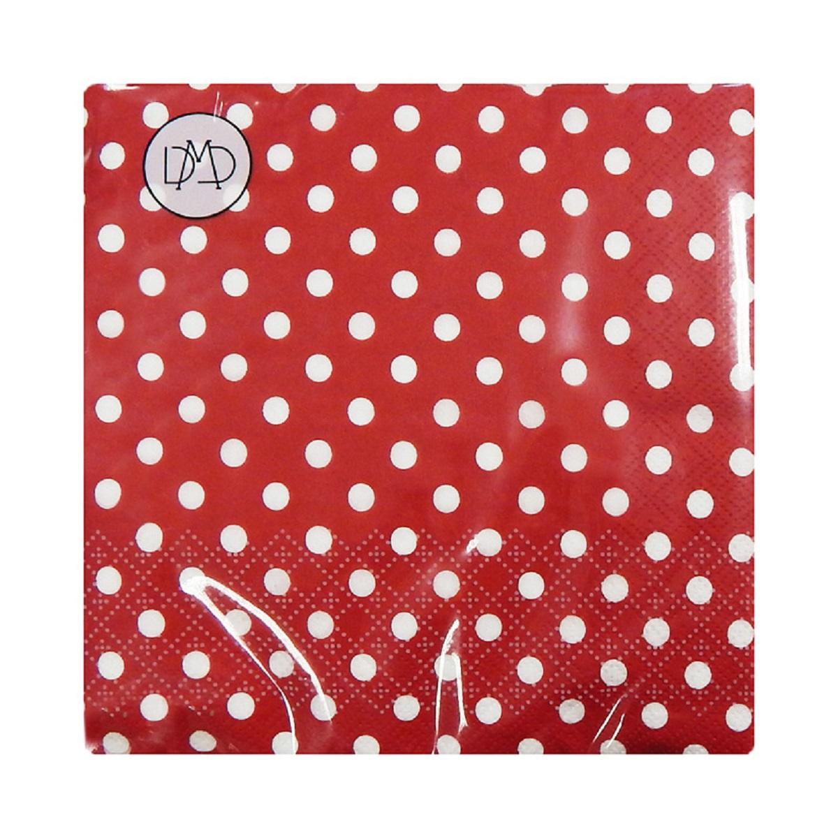 Бумажные салфетки DMD Полдник, 33х33 см, три слоя, 20 шт, цвет: красный15404Для бытового и санитарно-гигиенического назначения одноразового использования.