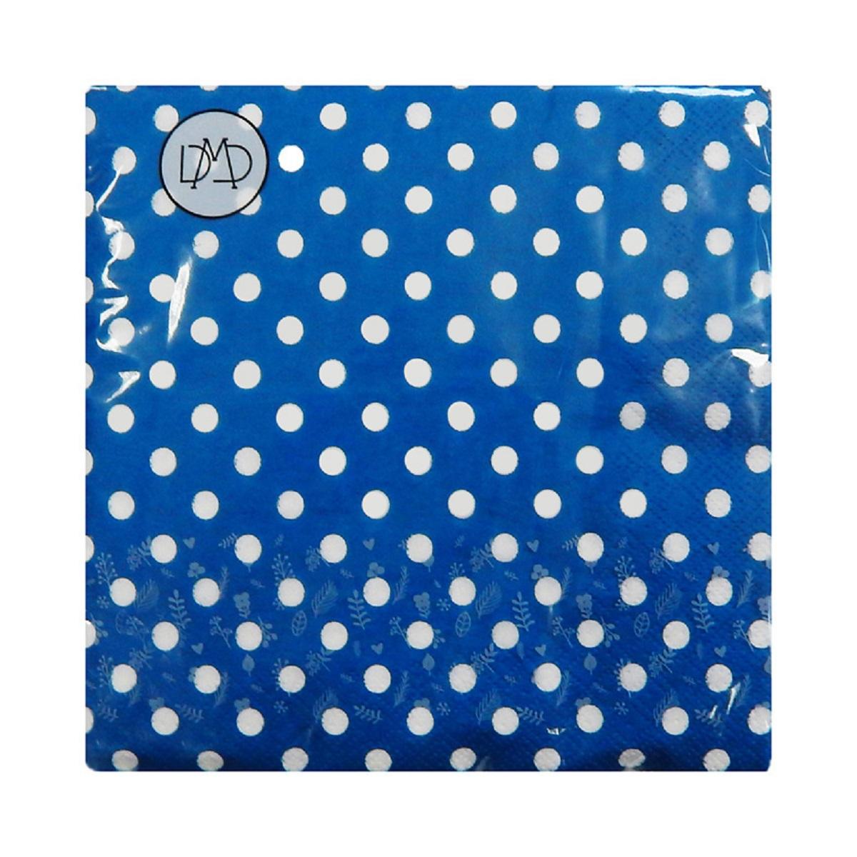Бумажные салфетки DMD Полдник, 33х33 см, три слоя, 20 шт, цвет: синий15473Для бытового и санитарно-гигиенического назначения одноразового использования.