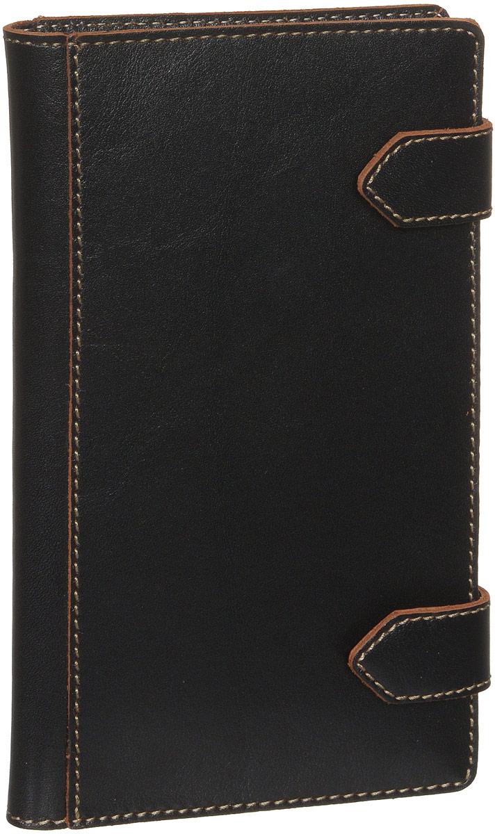 Визитница вертикальная Fabula Kansas, цвет: черный. V.21.TXFV.21.TXF.черныйТрехрядная вертикальная визитница Fabula Kansas выполнена из натуральной кожи, оформлена контрастной отделочной строчкой и тиснением с символикой бренда. Изделие раскладывается пополам и закрывается на два хлястика с кнопками. Внутри расположен вкладыш, состоящий из двадцати файлов для визиток. Изделие поставляется в фирменной упаковке. Стильная визитница станет отличным подарком для человека ценящего качественные и практичные вещи.