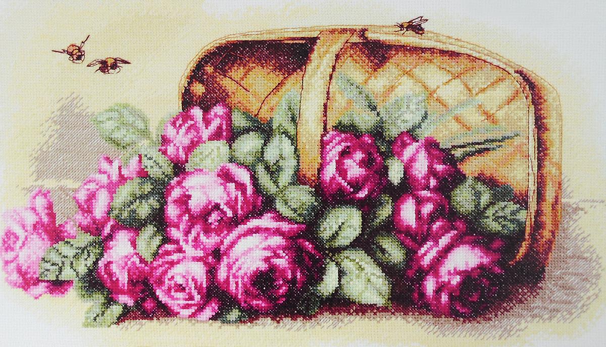 Набор для вышивания крестом Марья Искусница Розы в корзине, 40 х 25 см06.002.04Набор для вышивания крестом Марья Искусница Розы в корзине содержит все необходимое для создания красивой вышитой картины по мотивам работы Пауля де Лонгпре. Вышивка выполняется в технике счетный крест. Рисунок-вышивка, выполненный на канве, выглядит оригинально и всегда модно. Работа, сделанная своими руками, создаст особый уют и атмосферу в доме и долгие годы будет радовать вас и ваших близких. В набор входит: - канва Aida 14 Zweigart (Германия) бежевого цвета, - хлопковое мулине Finca (Испания) 29 цветов, - черно-белая символьная схема, - инструкция по вышиванию на русском языке, - игла Hemline (Япония).