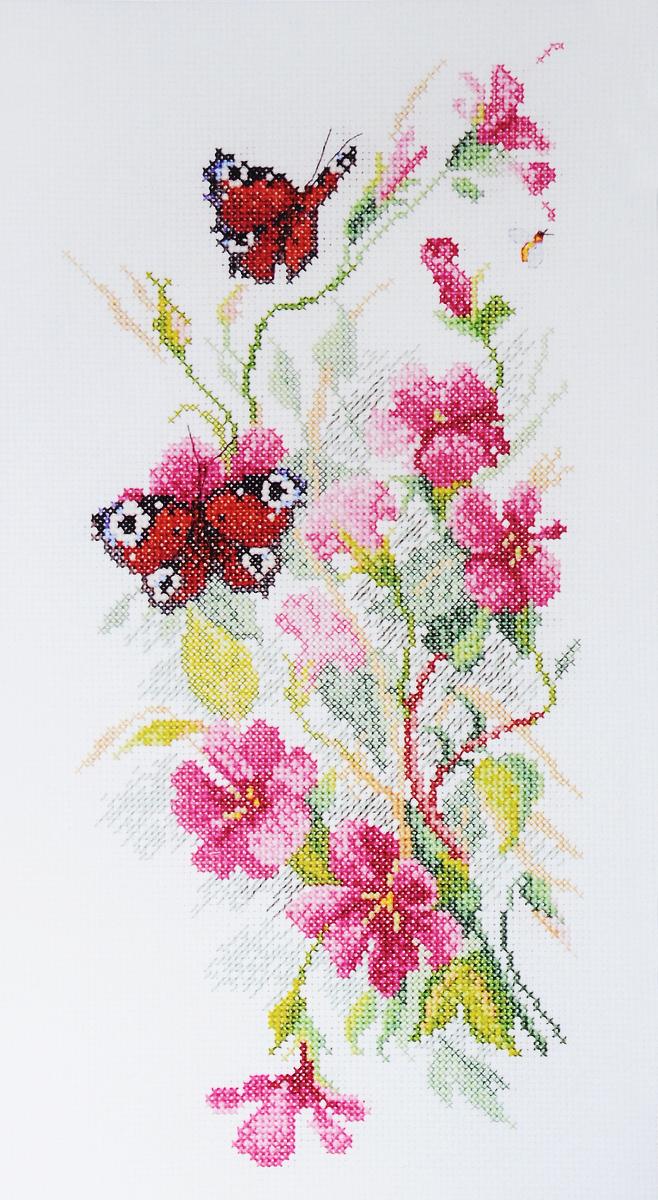 Набор для вышивания крестом Марья Искусница Цветы и бабочки, 15 х 31 см04.011.02Набор для вышивания крестом Марья Искусница Цветы и бабочки содержит все необходимое для создания красивой вышитой картины. Вышивка выполняется в технике счетный крест. Схема создана по рисунку Ольги Цуриной. Рисунок-вышивка, выполненный на канве, выглядит оригинально и всегда модно. Работа, сделанная своими руками, создаст особый уют и атмосферу в доме и долгие годы будет радовать вас и ваших близких. В набор входит: - канва Aida 14 Zweigart (Германия) белого цвета, - хлопковое мулине Finca (Испания) 35 цветов, - черно-белая символьная схема, - инструкция по вышиванию на русском языке, - игла Hemline (Япония).
