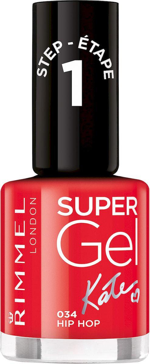 Rimmel Super Gel Kate nail polish Гель-лак для ногтей, тон 034 огненный алый, 12 мл34776273034Коллекция эксклюзивных оттенков от Кейт Мосс для еще более модного гелевого маникюра! STEP 6