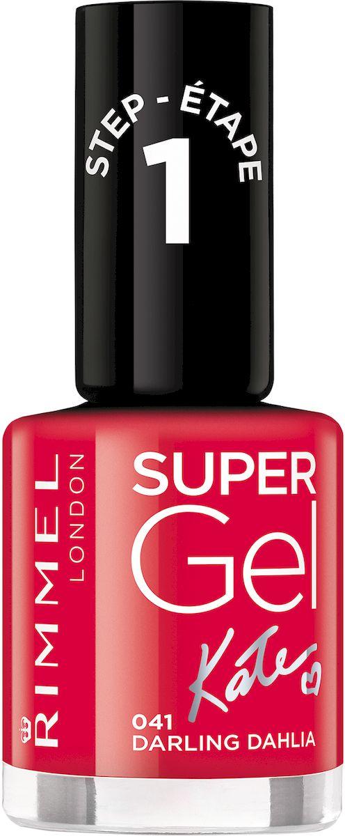 Rimmel Super Gel Kate nail polish Гель-лак для ногтей, тон 041 ярко-красный, 12 мл34776273041Коллекция эксклюзивных оттенков от Кейт Мосс для еще более модного гелевого маникюра! STEP 5