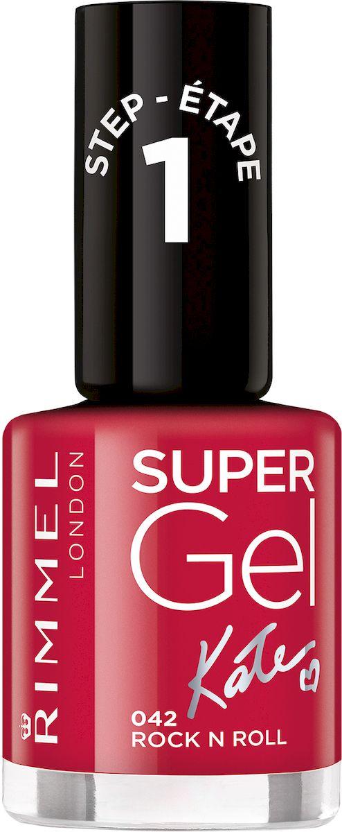 Rimmel Super Gel Kate nail polish Гель-лак для ногтей, тон 042 глубокий красный, 12 мл34776273042Коллекция эксклюзивных оттенков от Кейт Мосс для еще более модного гелевого маникюра! STEP 4