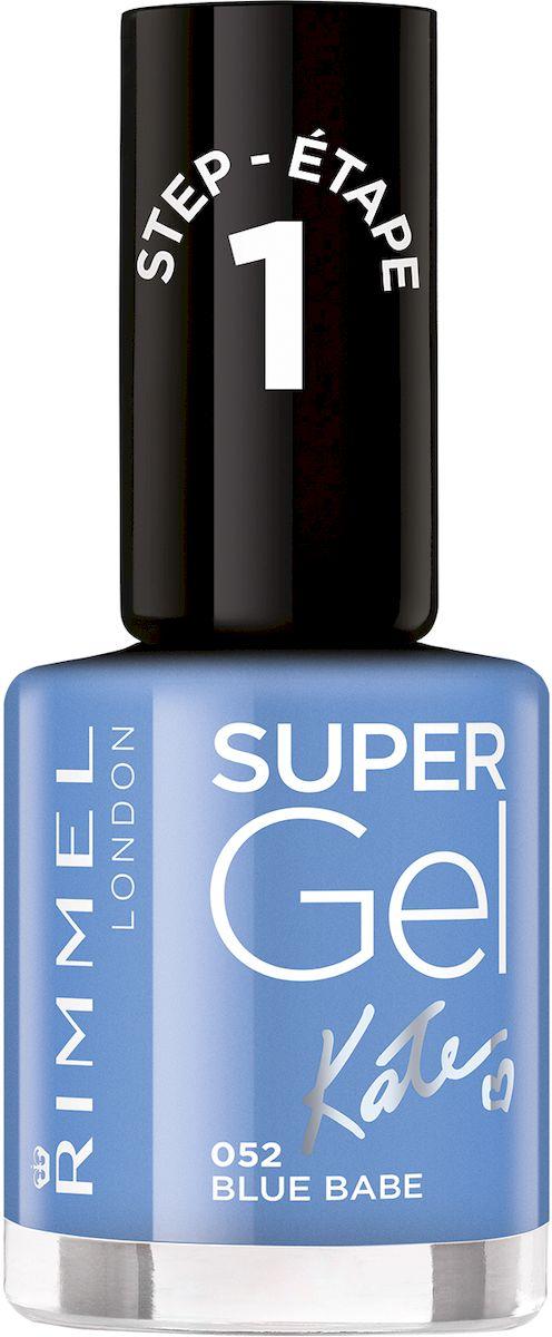 Rimmel Super Gel Kate nail polish Гель-лак для ногтей, тон 052 грифельный, 12 мл34776273052Коллекция эксклюзивных оттенков от Кейт Мосс для еще более модного гелевого маникюра! STEP 15
