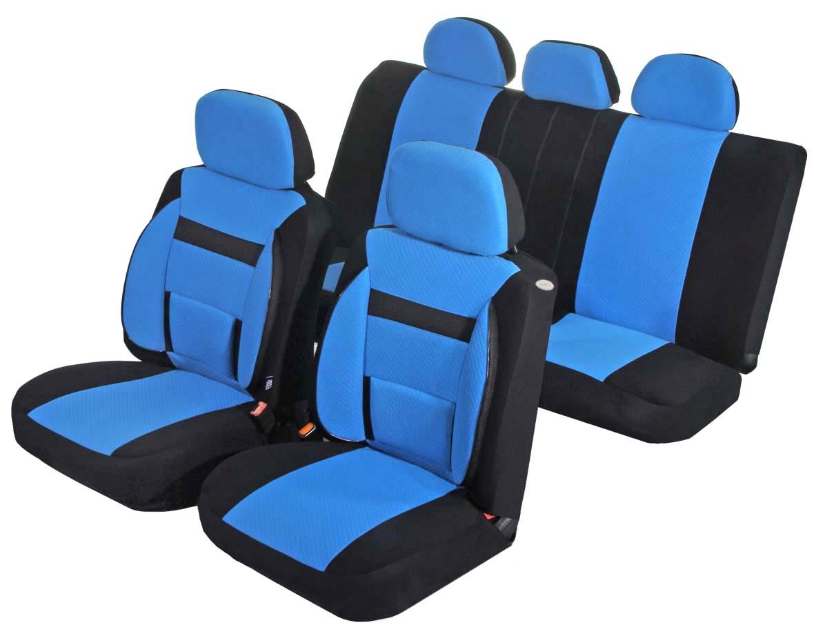 Чехлы для сидений Azard Support, универсальные, 11 предметов, цвет: синийAV031163Универсальные чехлы из автомобильного велюра. Применимы для 95% легкового автопарка РФ. Благодаря особому крою типа В чехлы идеально облегают сидения автомобиля. Специальный боковой шов позволяет применять авто чехлы в автомобилях с боковыми подушками безопасности (AIR BAG). Ортопедическую поддержку спины и ног по достоинству оценят водители, проводящие за рулем длительное время. Раздельная схема надевания обеспечивает легкую установку авто чехлов. Дополнительное удобство создает наличие предустановленных крючков, утягивающего шнура, фиксирующей липучки на передних спинках, а также предустановленной прорези для установки подголовника. Материал триплирован огнеупорным поролоном 3 мм, за счет чего чехол приобретает дополнительную мягкость и устойчивость к возгоранию. Авточехлы Azard Support износоустойчивы и легко стирается в стиральной машине.