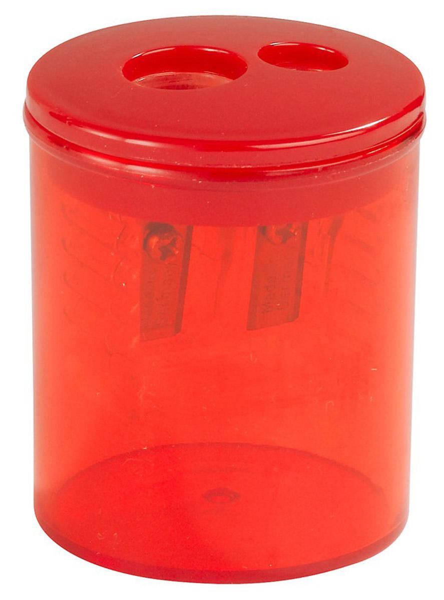 Herlitz Точилка Бочонок двойная с контейнером цвет красный8680100_красный/круглаяТочилка Herlitz Бочонок в пластиковом корпусе цилиндрической формы предназначена для затачивания карандашей. Точилка имеет два отверстия для карандашей различных диаметров (8 и 11 мм). Острое лезвие обеспечивает высококачественную и точную заточку. Карандаш затачивается легко и аккуратно, а опилки после заточки остаются в специальном контейнере.