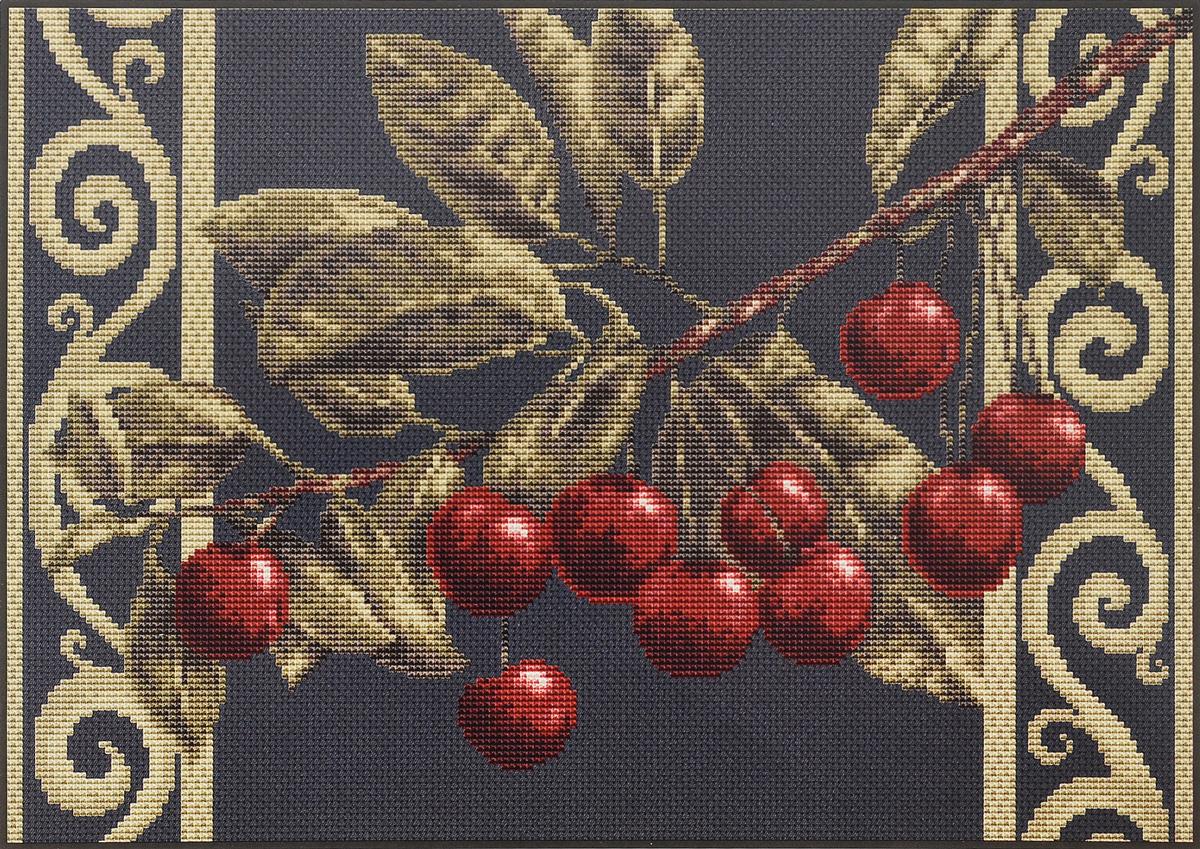 Набор для вышивания крестом Luca-S Веточка черешни, цвет: черный, зеленый, бордовый, 27 х 20 смB281Набор для вышивания крестом Luca-S Веточка черешни поможет создать красивую вышитую картину. Рисунок-вышивка, выполненный на канве, выглядит стильно и модно. Вышивание отвлечет вас от повседневных забот и превратится в увлекательное занятие! Работа, созданная своими руками, не только украсит интерьер дома, придав ему уют и оригинальность, но и будет отличным подарком для друзей и близких! Набор содержит все необходимые материалы для вышивки на канве в технике счетный крест. В набор входит: - канва Aida Zweigart №18 (черного цвета), - мулине Anchor - 100% мерсеризованный хлопок (17 цветов), - черно-белая символьная схема, - инструкция, - игла. Размер готовой работы: 27 х 20 см. Размер канвы: 37,5 х 30,5 см.