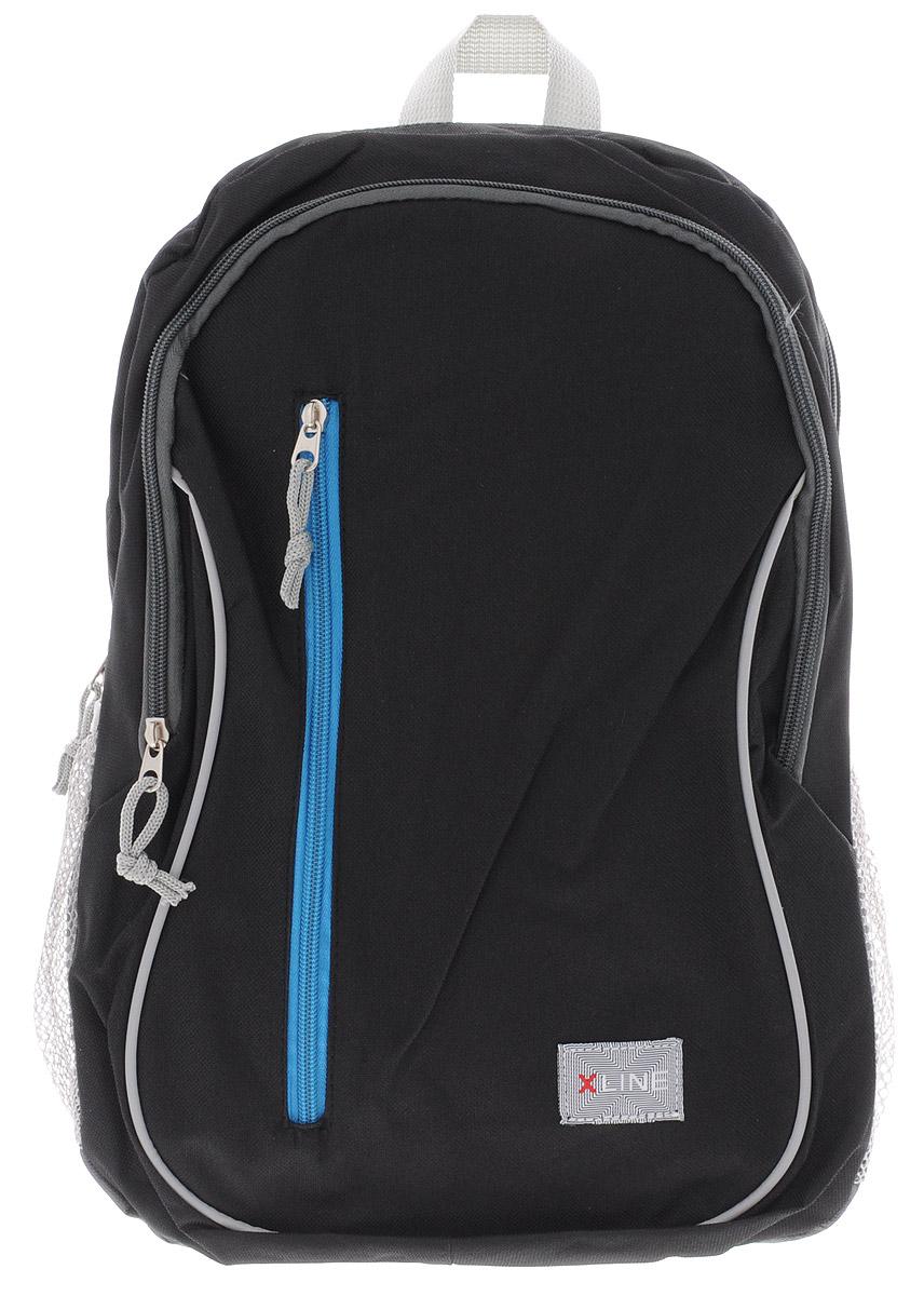 Proff Рюкзак детский X-line цвет черный серыйDL-684CДетский рюкзак Proff X-line обязательно понравится вашему школьнику. Выполнен рюкзак из прочного и высококачественного полиэстера. Содержит два вместительных отделения, закрывающиеся на молнии. Лицевая сторона оснащена прорезным карманом на застежке-молнии. Бегунки на молниях дополнены удобными текстильными держателями. По бокам находятся два открытых кармана-сетки, стянутых сверху резинками. Мягкие широкие лямки регулируются по длине. Рюкзак оснащен текстильной ручкой для удобной переноски в руке. Многофункциональный школьный рюкзак станет незаменимым спутником вашего ребенка.