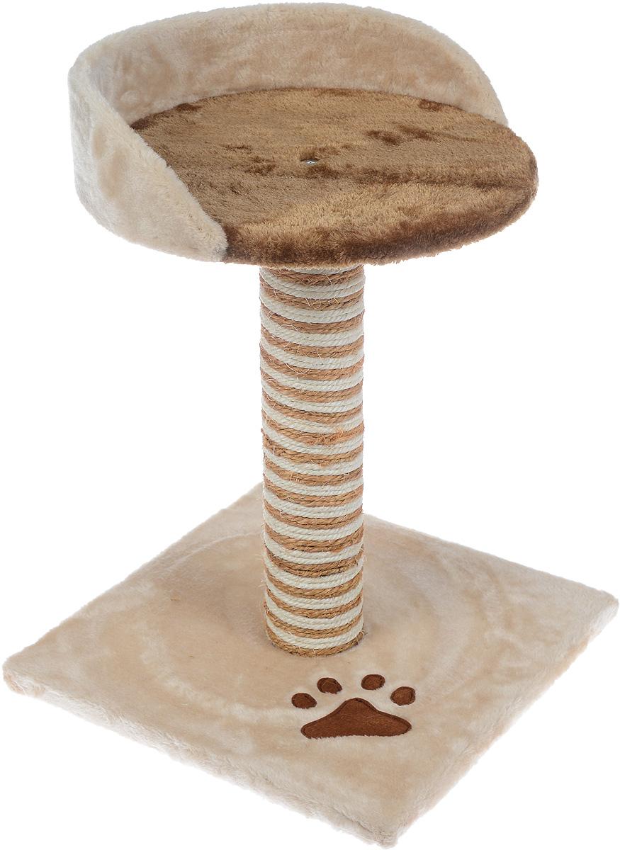 Когтеточка Aimigou, с полкой, цвет: бежевый, коричневый, высота 46 смQQ80802AКогтеточка Aimigou поможет сохранить мебель и ковры в доме от когтей вашего любимца, стремящегося удовлетворить свою естественную потребность точить когти. Когтеточка изготовлена из ДСП, искусственного меха и сизаля. Товар продуман в мельчайших деталях и, несомненно, понравится вашей кошке. Сверху имеется полка. Всем кошкам необходимо стачивать когти. Когтеточка - один из самых необходимых аксессуаров для кошки. Для приучения к когтеточке можно натереть ее сухой валерьянкой или кошачьей мятой. Когтеточка поможет вашему любимцу стачивать когти и при этом не портить вашу мебель. Размер основания: 34 х 34 см. Высота когтеточки: 46 см. Размер полки: 30,5 х 30 см.