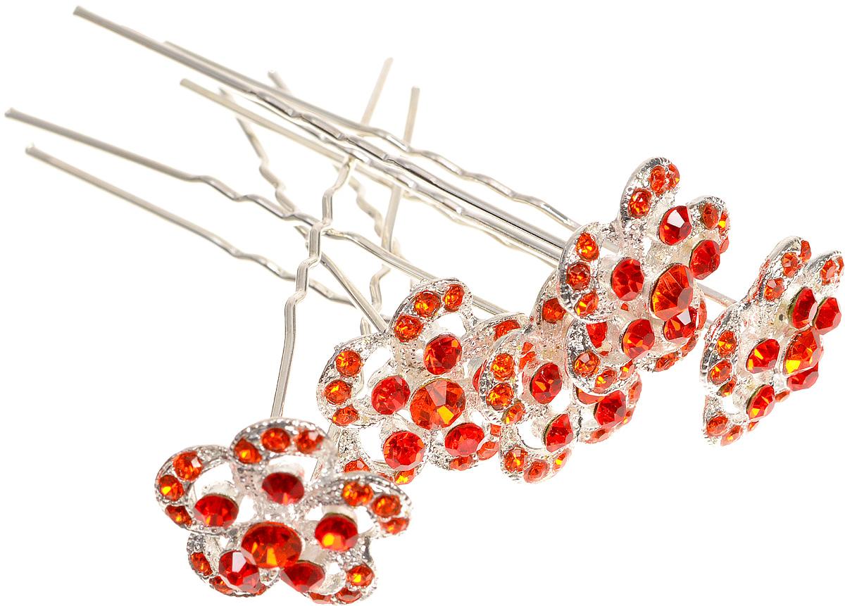 Babys Joy Шпилька для волос цвет оранжевый 5 штK 12_оранжевыйНастоящий стиль и красота - в деталях. Именно поэтому шпилька для волос Babys Joy придаст вашей малышке завершающий штрих любому образу, добавив в него изюминку. Изделие выполнено из металла и оформлено декоративным элементом в виде цветка, украшенного стразами. В наборе 5 шпилек для волос. Предназначено для детей старше трех лет.