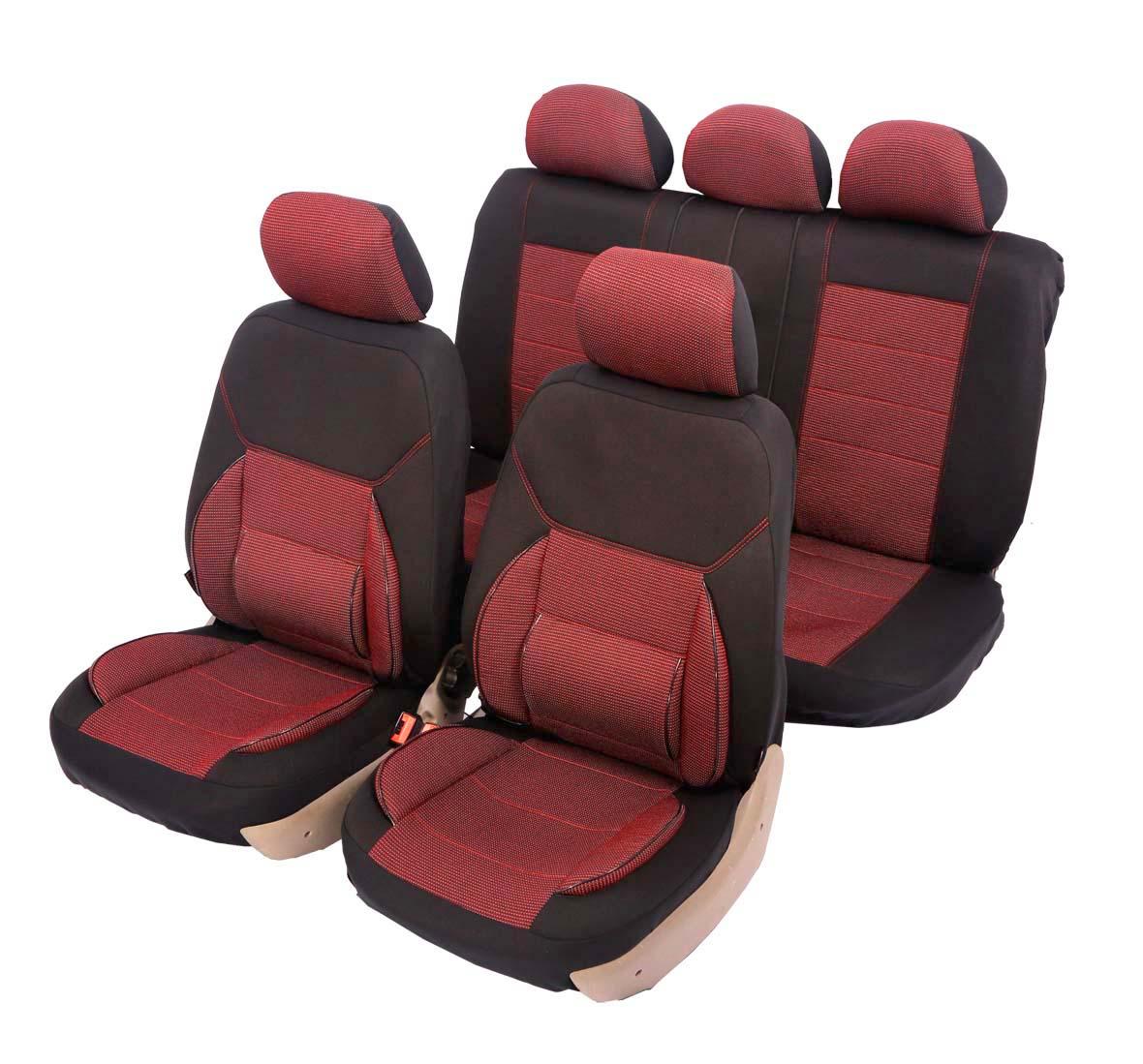 """Чехол на автомобильное кресло универсальный Senator """"New Jersey"""", размер M, ортопед.поддержка 3 уровня, 11 предметов, карман, 6 молний,"""