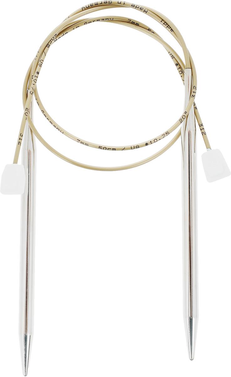 Спицы Addi, с фиксаторами на лесках, диаметр 7 мм, длина 50 см, 2 шт181-7/7-50Оригинальные спицы Addi - сочетание традиционных прямых спиц и гибкой лески с фиксатором на конце. Общая длина металлической части спиц и лески составляет 50 см, при этом вес этих спиц гораздо меньше традиционных прямых спиц. Гибкость лески позволяет распределить вес изделия, что облегчает вязание больших, тяжелых вещей. Фиксаторы из пластика не позволят полотну соскользнуть со спиц. Лёгкость скольжения петель обеспечивают никелевое покрытие металлической части и высококачественная нейлоновая леска. Все эти достоинства спиц с фиксаторами на лесках позволят вам в полной мере насладиться процессом вязания, а вещи, связанные с помощью таких спиц, будут согревать теплом вас и ваших близких.