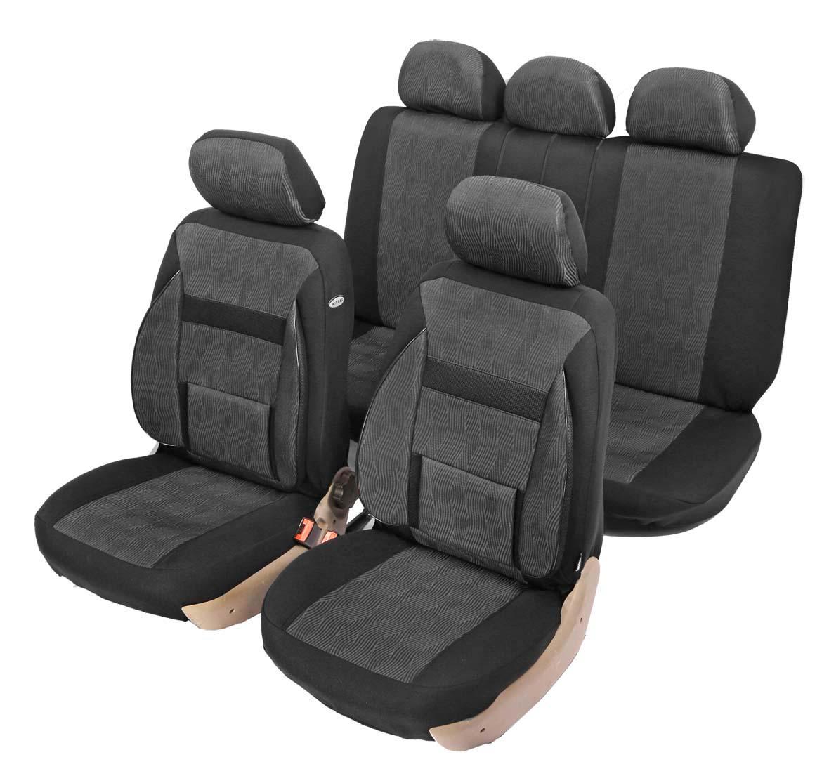 """Чехол на автомобильное кресло универсальный Senator """"NEW Nebraska"""", размер S, ортопед.поддержка 2 уровня, 11 предметов, карман, 6 молний,"""