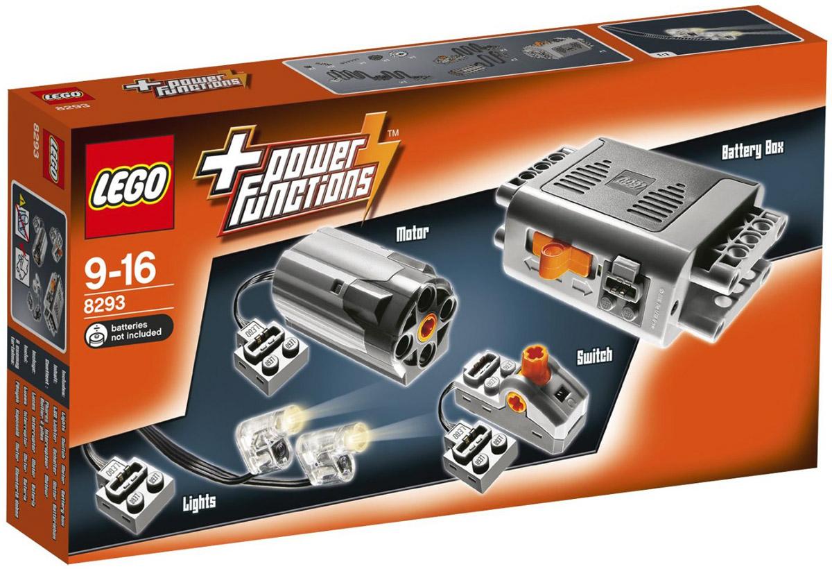 LEGO Technic Конструктор Power Functions 82938293Набор с мотором Power Functions состоит из элементов для приводов электромеханических моделей LEGO. В комплект входят: мотор, аккумуляторная батарея, кабель, переключатель полярности и два светодиода. Этот набор обеспечит работу моторизованных моделей LEGO. В процессе игры с конструкторами LEGO дети приобретают и постигают такие необходимые навыки как познание, творчество, воображение. Обычные наблюдения за детьми показывают, что единственное, чему они с удовольствием посвящают время - это игры. Игра - это состояние души, это веселый опыт познания реальности. Играя, дети создают собственные миры, осваивают их, восстанавливают прошедшие и будущие события через понарошку, а, познавая, приобретают знания и умения. Фантазия ребенка безгранична, беря свое начало в детстве, она позволяет ребенку учиться представлять в уме, она помогает ему выражать свою индивидуальность, творить, давать форму или выражение чувствам, идеям, а это означает, что ребенок,...