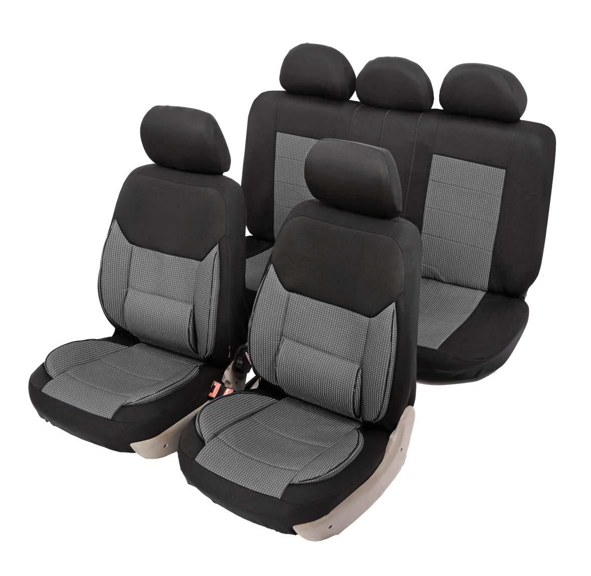 """Чехол на автомобильное кресло универсальный Senator """"California"""", размер M, ортопед.поддержка 3+ уровня, 11 предметов, карман, 6 молний,"""