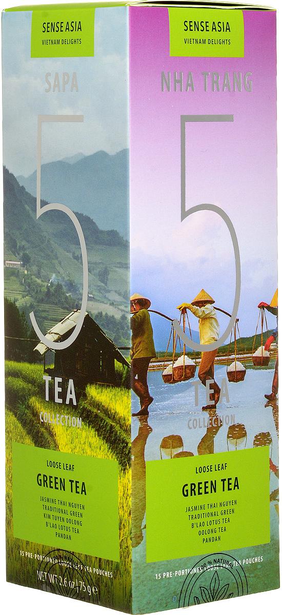 Sense Asia Vietnam Delights collection подарочный набор зеленого чая 5 Green Tea, 75 г европа нож брелок victorinox swiss lite 0 6228 t