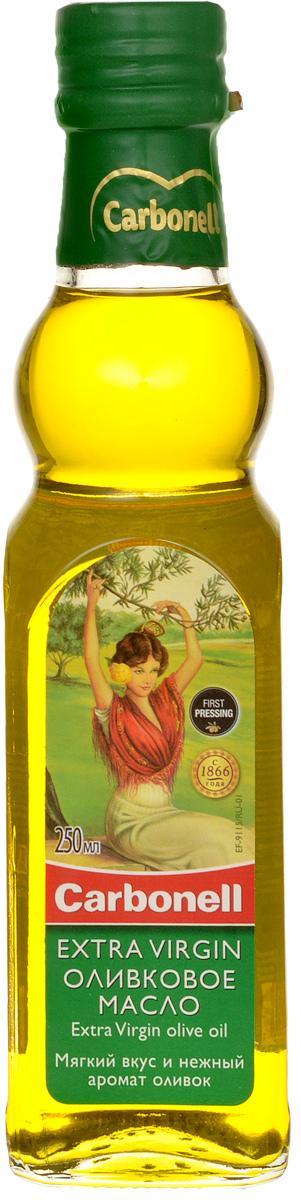 Сarbonell Extra Virgin оливковое масло, 250 млгзк050Сarbonell Extra Virgin - превосходное нерафинированное оливковое масло первого холодного отжима. Вкус насыщенный с ароматом свежевыжатых оливок.