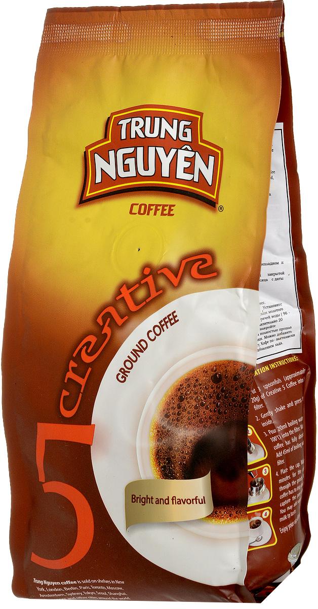 Trung Nguyen Creative 5 кофе молотый, 250 г8935024142066Trung Nguyen Creative 5 - это яркий аромат! Кофе, созданный из отборных бобов сорта Кули Арабика, произрастающий на плодородных, высокогорных плантаций в центральном нагорье Вьетнама, Кули Арабики придает этому кофе легкую кислинку и уникальный аромат, с присутствием типичной зерновой нотки и длительным послевкусием. Прекрасно подойдет для тех, кто предпочитает пить кофе горячим с молоком, сливками и сахаром, вкус и аромат останется прежним. Так же он подойдет для тех, кто предпочитает пить кофе холодным. Коллекция Creative – классика легендарного вьетнамского кофе Trung Nguyen. Непревзойденный кофе получается из кофейных зерен превосходного качества. Благодаря усилиям фермеров, их квалификации, неугасающему энтузиазму и соблюдению традиционной и многовековой рецептуре, вы можете насладиться неоценимым источником ароматов и вкусов этой коллекции.