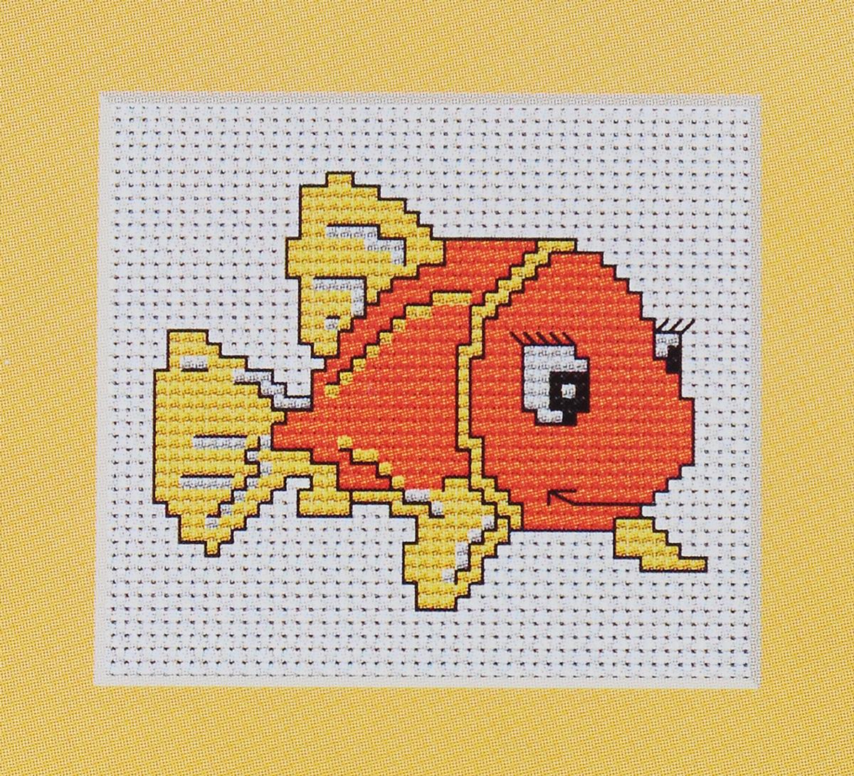 Набор для вышивания крестом Luca-S Оранжевая рыбка, 7,5 х 6 смB081Набор для вышивания крестом Luca-S Оранжевая рыбка поможет вам создать свой личный шедевр - красивую картину, вышитую нитками мулине в технике счетный крест. Работа, выполненная своими руками, станет отличным подарком для друзей и близких! В набор входит: - белая канва Aida Zweigart 14 (хлопок) без рисунка размером 7,5 х 6 см, - мулине Anchor 4 цветов, - игла, - цветная схема для вышивания.