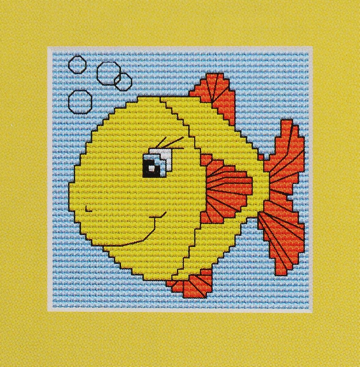 Набор для вышивания крестом Luca-S Желтая рыбка, 8 х 8 смB080Набор для вышивания крестом Luca-S Желтая рыбка поможет вам создать свой личный шедевр - красивую картину, вышитую нитками мулине в технике счетный крест. Работа, выполненная своими руками, станет отличным подарком для друзей и близких! В набор входит: - белая канва Aida Zweigart 14 (хлопок) без рисунка размером 8 х 8 см, - мулине Anchor 5 цветов, - игла, - цветная схема для вышивания.