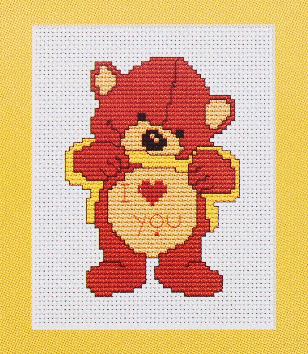 Набор для вышивания крестом Luca-S Медведь, 7,5 х 10 смB086Набор для вышивания крестом Luca-S Медведь поможет вам создать свой личный шедевр - красивую картину, вышитую нитками мулине в технике счетный крест. Работа, выполненная своими руками, станет отличным подарком для друзей и близких! В набор входит: - белая канва Aida Zweigart 14 (хлопок) без рисунка размером 10 х 7,5 см, - мулине Anchor 5 цветов, - игла, - цветная схема для вышивания.