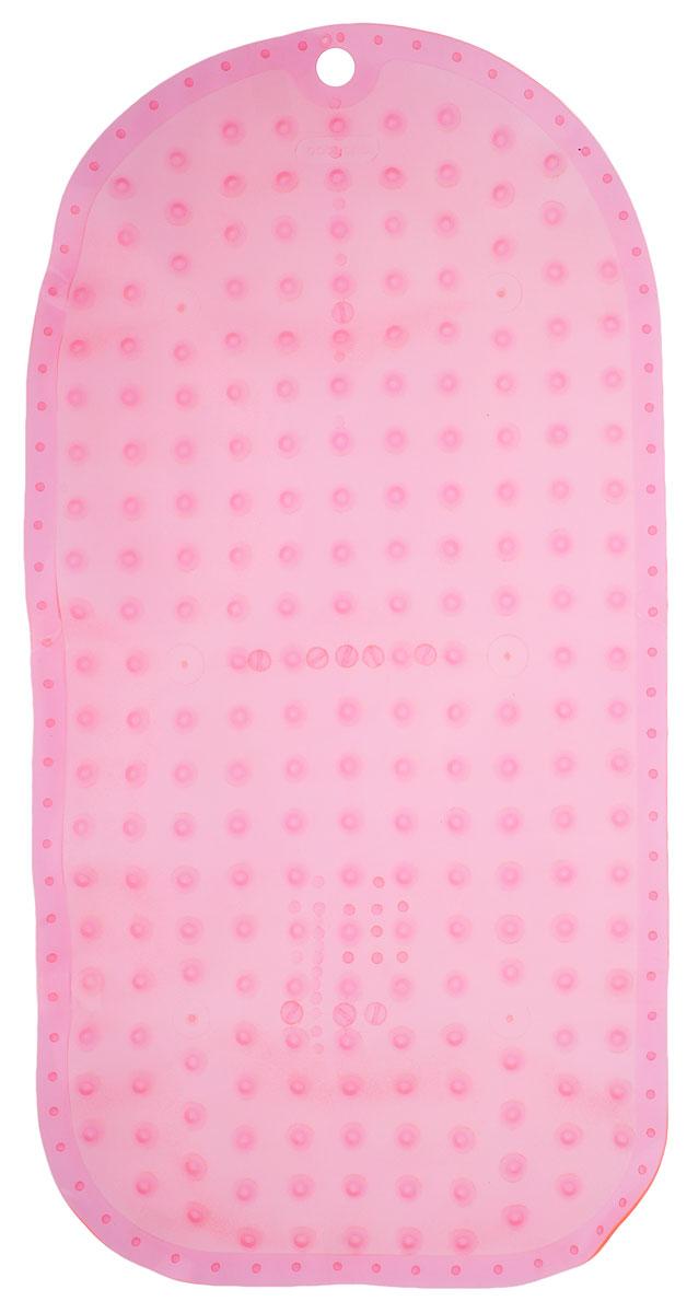BabyOno Коврик противоскользящий для ванной цвет розовый 70 х 35 см