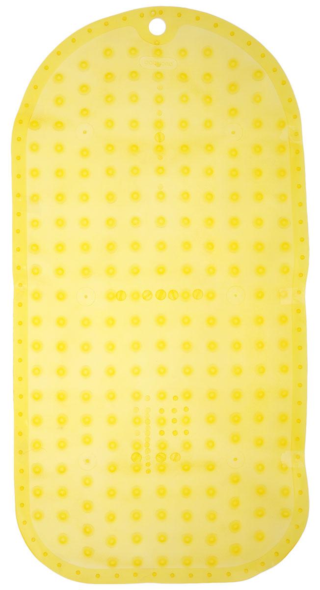 BabyOno Коврик противоскользящий для ванной цвет желтый 70 х 35 см