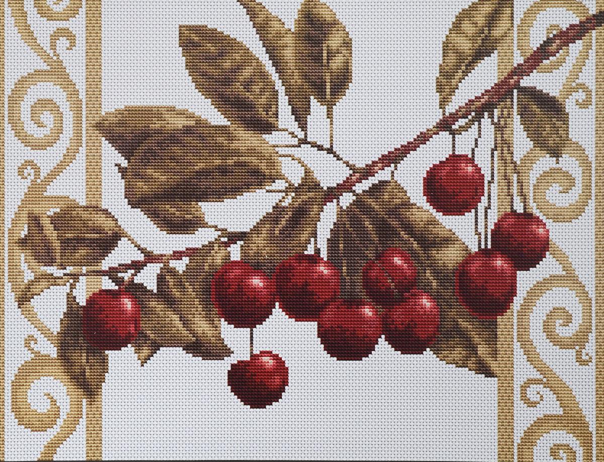 Набор для вышивания крестом Luca-S Веточка черешни, цвет: белый, зеленый, бордовый, 27 х 20 смB280Набор для вышивания крестом Luca-S Веточка черешни поможет создать красивую вышитую картину. Рисунок-вышивка, выполненный на канве, выглядит стильно и модно. Вышивание отвлечет вас от повседневных забот и превратится в увлекательное занятие! Работа, созданная своими руками, не только украсит интерьер дома, придав ему уют и оригинальность, но и будет отличным подарком для друзей и близких! Набор содержит все необходимые материалы для вышивки на канве в технике счетный крест. В набор входит: - канва Aida Zweigart №18 (белого цвета), - мулине Anchor - 100% мерсеризованный хлопок (17 цветов), - черно-белая символьная схема, - инструкция, - игла. Размер готовой работы: 27 х 20 см. Размер канвы: 37,5 х 30,5 см.