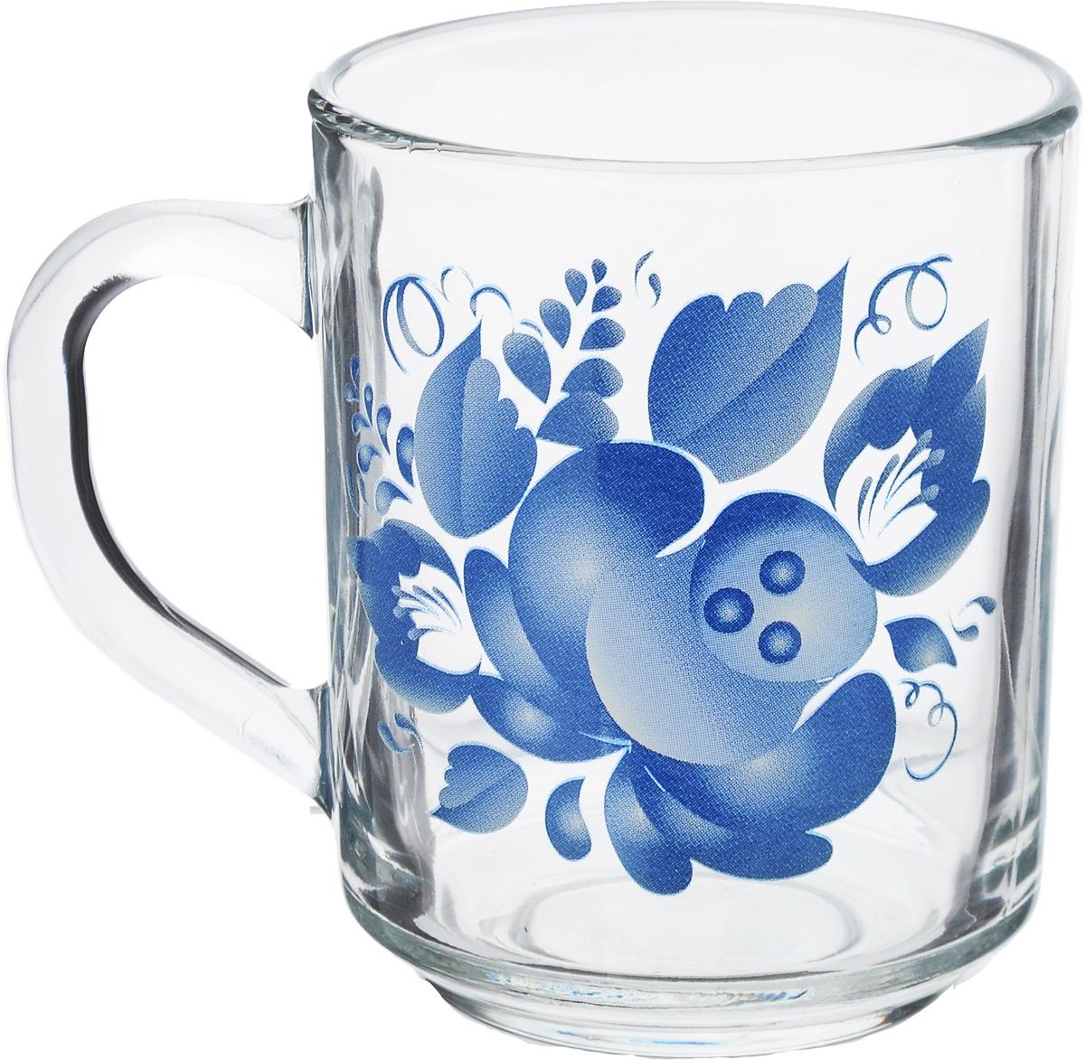 Кружка Green Tea Русские узоры, цвет: прозрачный, синий, 200 мл07c1335 ДЗ Узоры 1Кружка Green Tea Русские узоры, выполненная из высококачественного стекла, украшена цветочным узором. Изделие станет отличным дополнением к сервировке семейного стола и замечательным подарком для ваших родных и друзей. Диаметр кружки (по верхнему краю): 7 см. Высота кружки: 9 см.