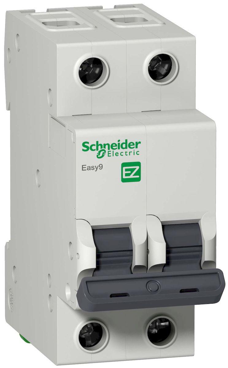 Автоматический выключатель Schneider Electric Easy 9, 2П 63А С 4,5кА 230В. EZ9F34263EZ9F34263Автоматический выключатель 2П 63А С 4,5кА 230В Schneider Electric Easy 9 EZ9F34263