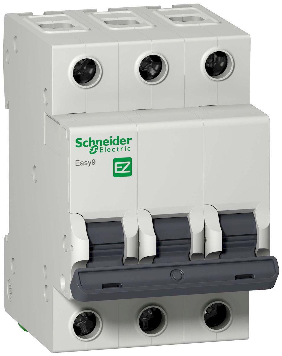 Автоматический выключатель Schneider Electric Easy 9, 3П 63А С 4,5кА 400В. EZ9F34363EZ9F34363Автоматический выключатель 3П 63А С 4,5кА 400В Schneider Electric Easy 9 EZ9F34363