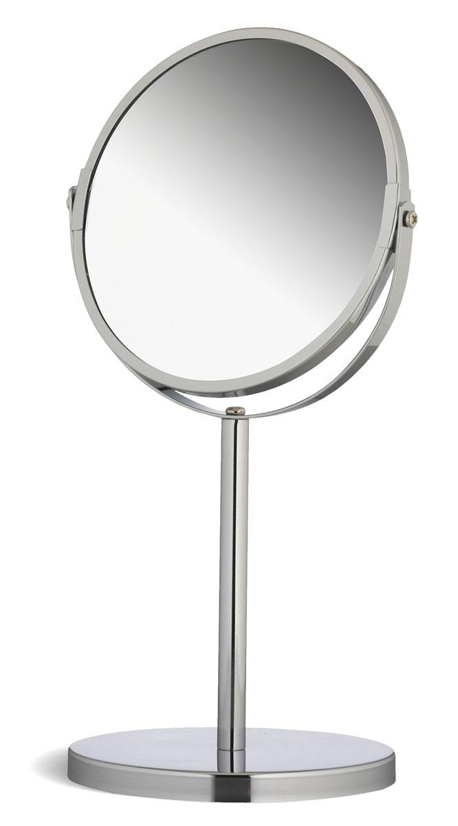 Зеркало двухстороннее Tatkraft Venus, настольное, диаметр 17 см11120Настольное двухстороннее зеркало Tatkraft Venus в оправе из хромированной стали имеет влагостойкое покрытие и регулятор наклона. Оно будет удобным в ванной комнате или на туалетном столике. У зеркала две поверхности, одна из которых дает обычное отражение, другая - с трехкратным увеличением. У зеркала отсутствует геометрическое искажение. Высота зеркала: 34 см. Диаметр зеркала: 17 см. Диаметр поставки: 15 см. Длина ножки: 15 см.