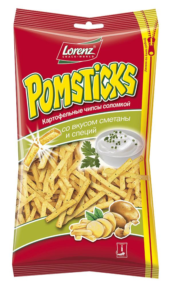 Pomsticks со вкусом сметаны и специй порадуют всех любителей картофельных чипсов свежим сливочным вкусом!